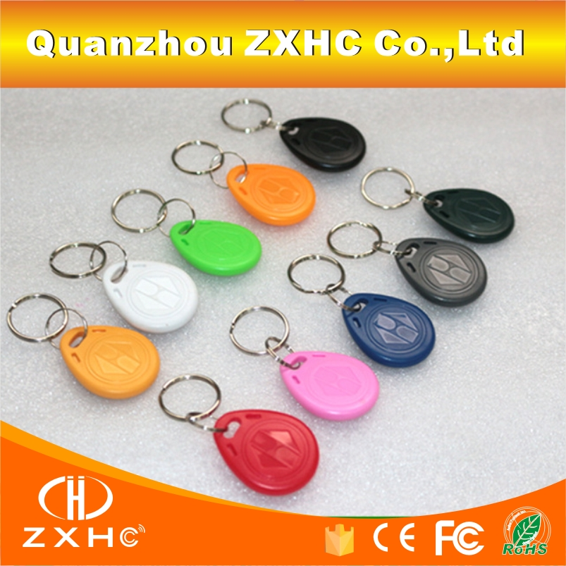 (100PCS/LOT) EM4305 125khz Programmable RFID Smart Tags Rewritable Keys Number2 Keyfobs