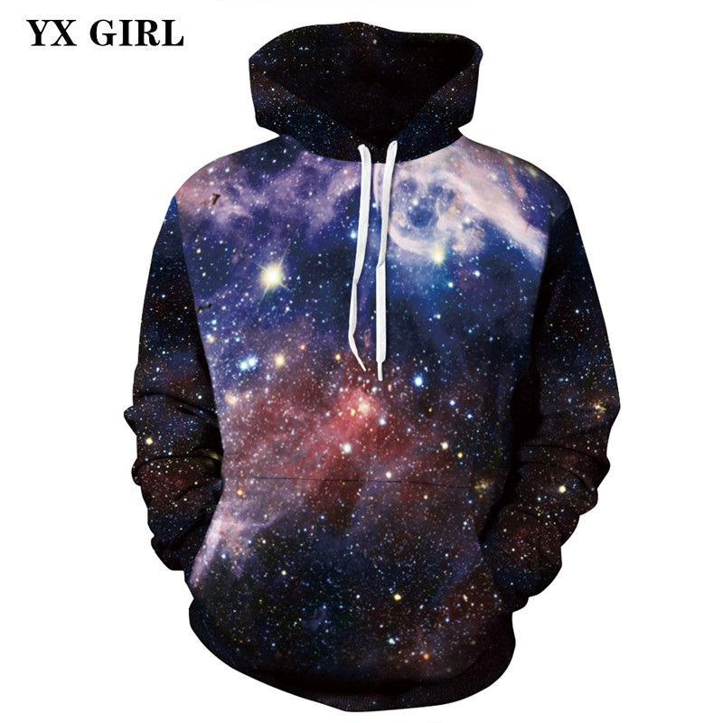 New Fashion Unisex Hooded Sweatshirt Men/Women 3d Print Hoodies Space Galaxy Nebula Sweatshirts Colorful Thin Autumn Pullovers
