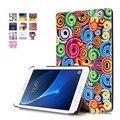 "Para Samsung Galaxy Tab 7.0 SM-T280 T280N T285 7 "" Tablet Custer Ultra Slim PU caso de couro Flip protetor capa"