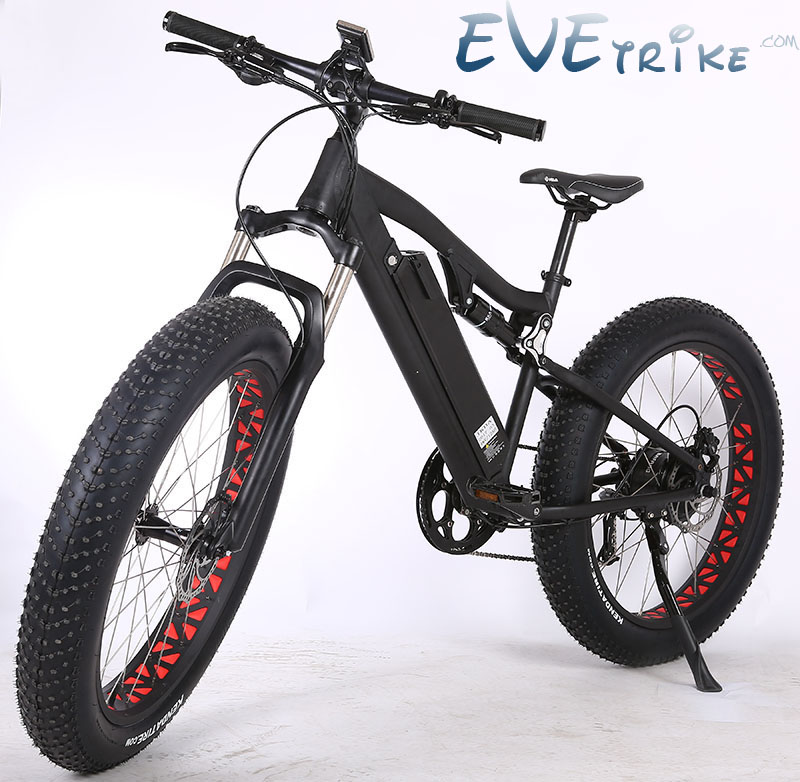 Evetrike Located China Wholesale Price 48V 14.5Ah Samsung Lithium Battery Electric Bike Fat Ebike 26″ E Cycle Rear Hubmotor Bike