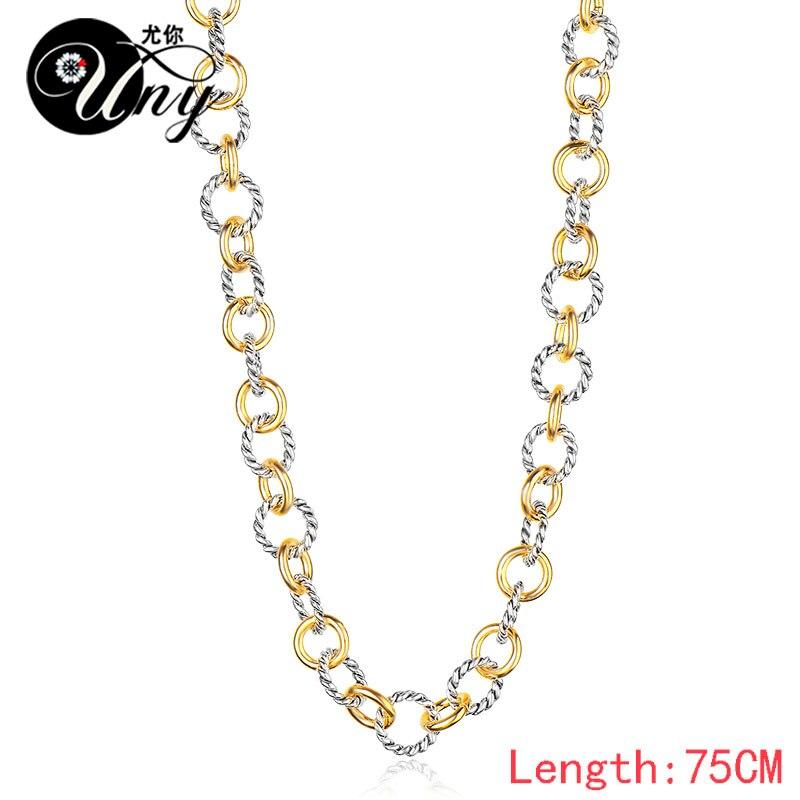 UNY Naszyjnik Styl Trendy Elegancki Vintage Retro Unikalny David - Modna biżuteria - Zdjęcie 6