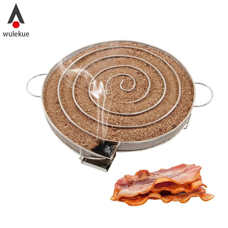 Wulekue Kalten Rauch Generator für BBQ Grill oder Raucher Holz staub Heißer und Kalten Rauchen Lachs Fleisch Brennen Kochen edelstahl bbq Werkzeuge