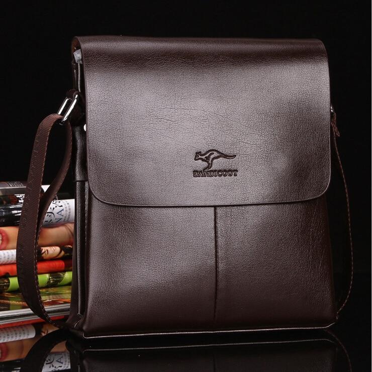 New 2015 Designer Brand PU Leather Men Messenger Bags High Quality Men's Crossbody Small Shoulder Bag for Man, Free Shipping