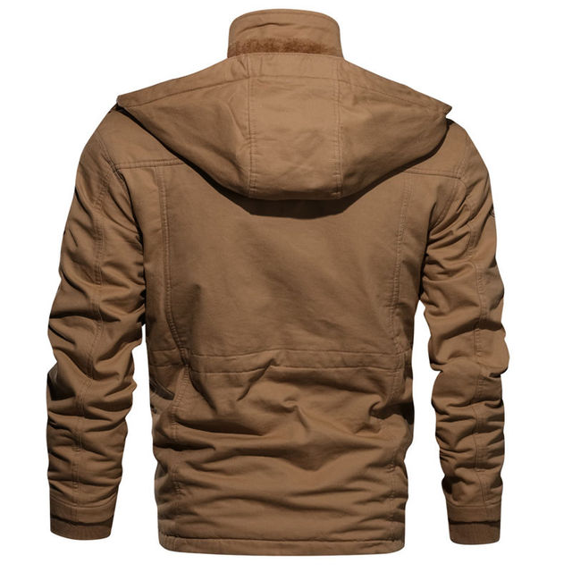 2019 New Arrival Men's Winter Fleece Jackets Warm Hooded Coat Thermal Thick Outerwear Male Military Jacket Mens Brand Clothing 5