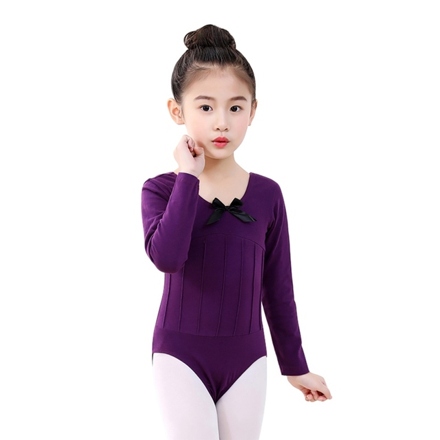7f442748 Kids Dancing Ballet Tights Dress Dance Gymnastic Leotards Long-sleeved for Girls  10~12 Years Old 1pc Girls Cotton Dress