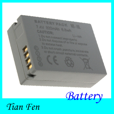 NB 10L Hot Sale 1pcs 7 4V 920mAh Battery NB 10L NB10L Rechargeable Li ion Battery