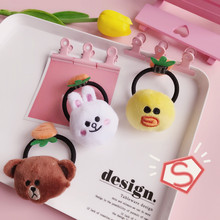 Lovely Cartoon Bear Rabbit Bow Elastic Hair Band Sweet Rope  High Elasticity Rubber Ring Girls Accessories