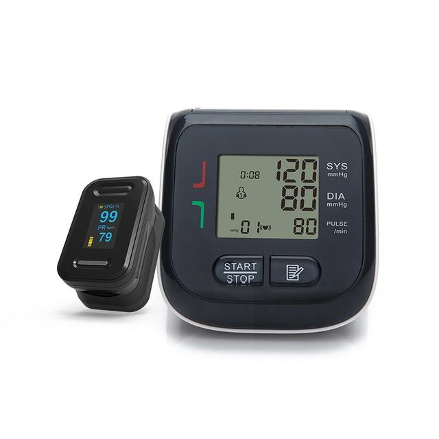 BOXYM Fingertip Pulse Oximeter & Wrist Blood Pressure Monitor SpO2 PR Sphygmomanometer Family Health Care 3