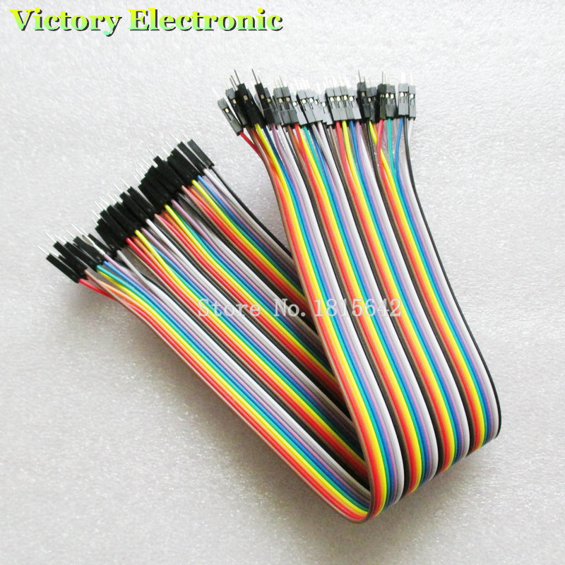 40PCS/Lot 30cm 2.54mm 1Pin Male To Male Jumper Wire Dupont Cable New Wholesale