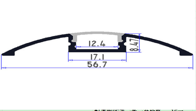 2.5 m / szt. 135M / Lot smukła linia taśmy led profil montażowy - Oświetlenie LED - Zdjęcie 3