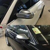 2 шт. серебристый ABS хромированные боковые зеркала заднего вида Замена заглушки для Audi A4 2017