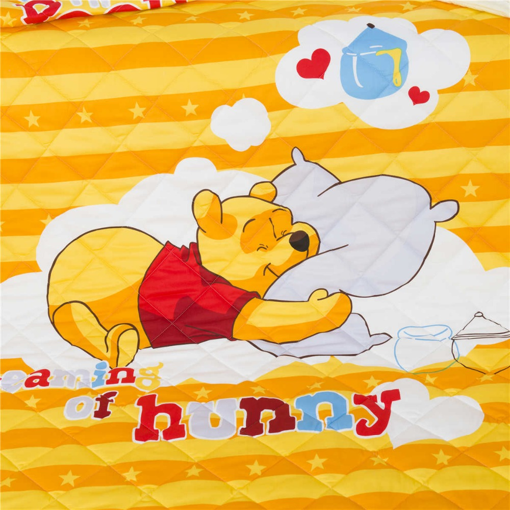 Trapunta Winnie The Pooh.Us 59 99 Winnie The Pooh Quilts Comforters Queen Full Twin Single Bedding Cotton Fabric Woven Disney Cartoon Girls Summer Yellow Orange In