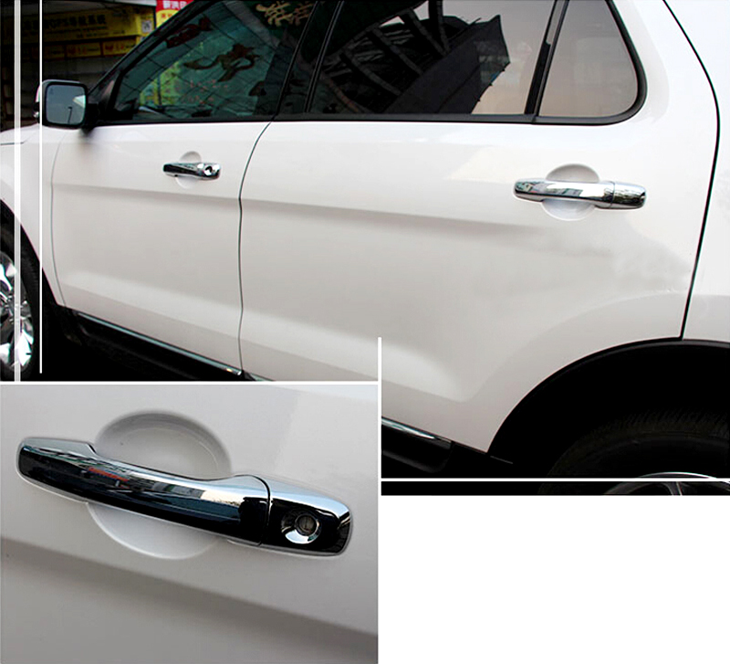 8pcs Bright Chrome Side Door Handle Cover Trim For Ford Explorer 2016 2015 2014 2013 2012 2011