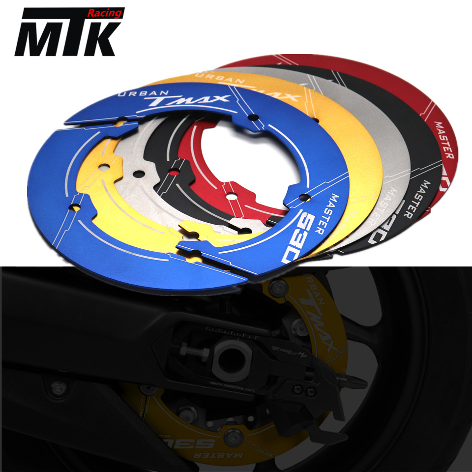 MTKRACING Motorcycle accessories CNC Aluminum Transmission Belt Pulley Cover For yamaha TMAX 530 t-max 530 tmax530 sx dx 2017 cnc aluminum belt drives guard cover for motorcycle yamaha tmax 530 t max 2012 2015