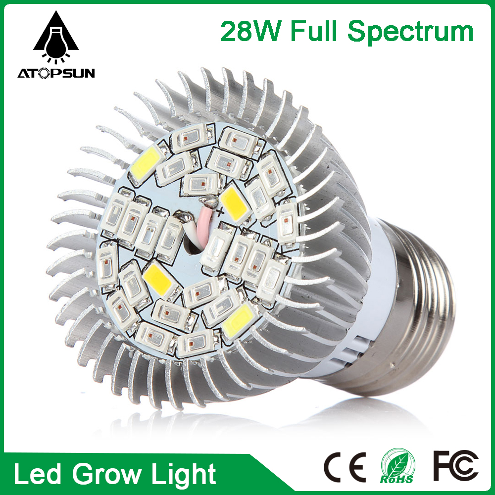 1pcs Full Spectrum Led Grow Light E27 28w Aquarium Light