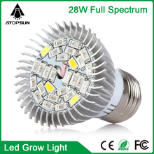 Full spectrum LED Grow Light E27 28W aquarium light Indoor Plants Lamp For Flower Seedling Hydroponic System growTent grow box
