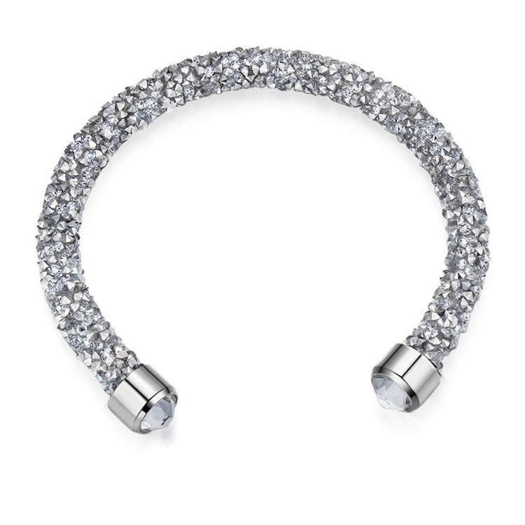 Shining Chain Bracelet Crystal From SWAROVSKI Bracelet for Women Jewelry Pulseira Feminin Mother's Day Gift