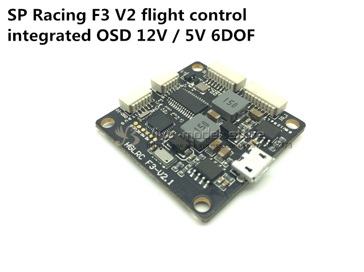 FPV upgraded version SP Racing F3 V2 flight control integrated OSD 12V / 5V 6DOF 10DOF fpv s2 osd barometer version osd board read naza data phantom 2 iosd osd barometer with 8m gps module