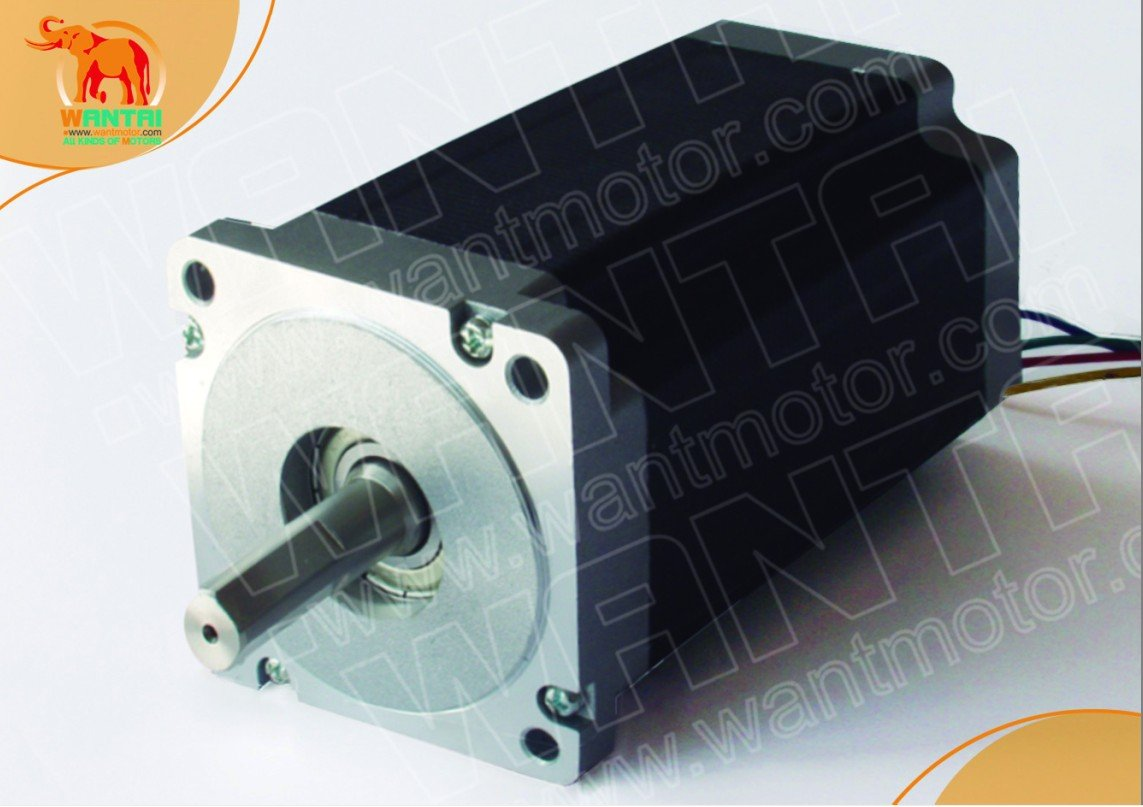 1 PC SINGLE SHAFT OF NEMA34 WANTAI STEPPER MOTOR 1232OZ-IN,5.6A,118mm,4leads, bipolar connection 1 pc single shaft of nema34 stepper motor 1215oz in 4 2a 118mm 8 leads bipolar connection for engraving milling machine