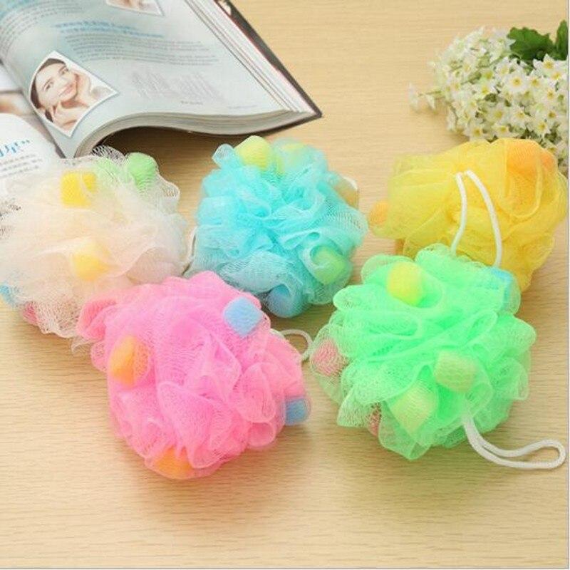 Creative Household Multifunction Color Essential Toiletries Bath Sponge Bath Flower Bath Ball Back Rub Large Bath Rub