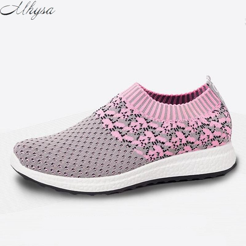 Mhysa 2019 Spring Women Shoes Light Breathable Women Sneakers Air Mesh Tenis Feminino Women Casual Shoes Vulcanize Shoes  T715