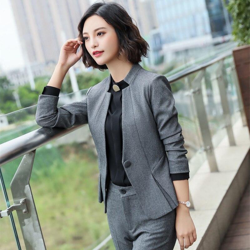 Womens Business Casual Pants Skirts Suits Plus Size Pant Suit for Women Office Wear 2 Pieces Set Clothing Ladies Pantsuit 4XL
