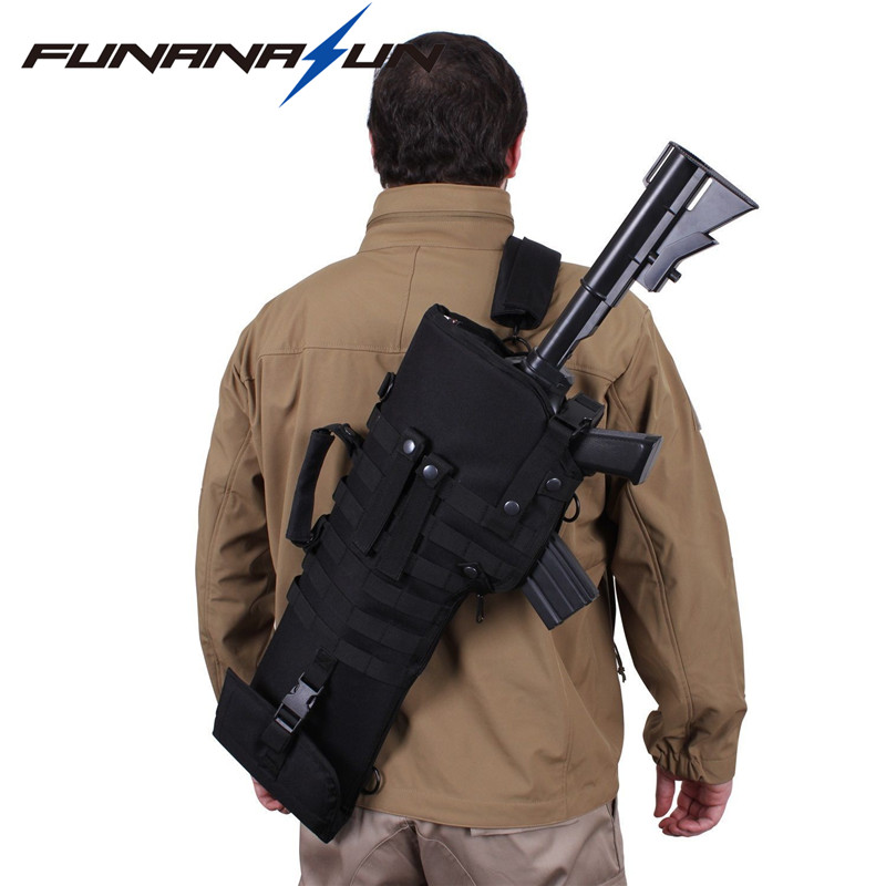 29 Military Rifle Scabbard Molle Backpack Tactical Army Shotgun Holster Assault Long Gun Padded Protection With Shoulder Strap