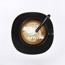 2018 European Style Black Coffee Cup with Saucer Tea cup Retro ceramic Spoon Breakfast Milk cups Best Gift For Lovers