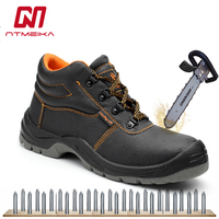 Plus Size 36 46 Men Work Safety Shoes Steel Toe High Quality Steel Sole Oil Resistant Anti erode Safety Boots Men Work Boots