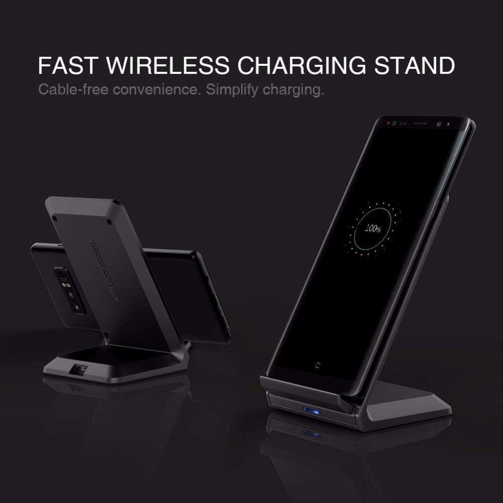 Nillkin sürətli simsiz şarj cihazı iPhone X 8 7 6s 6 Plus Samsung - Cib telefonu aksesuarları və hissələri - Fotoqrafiya 2