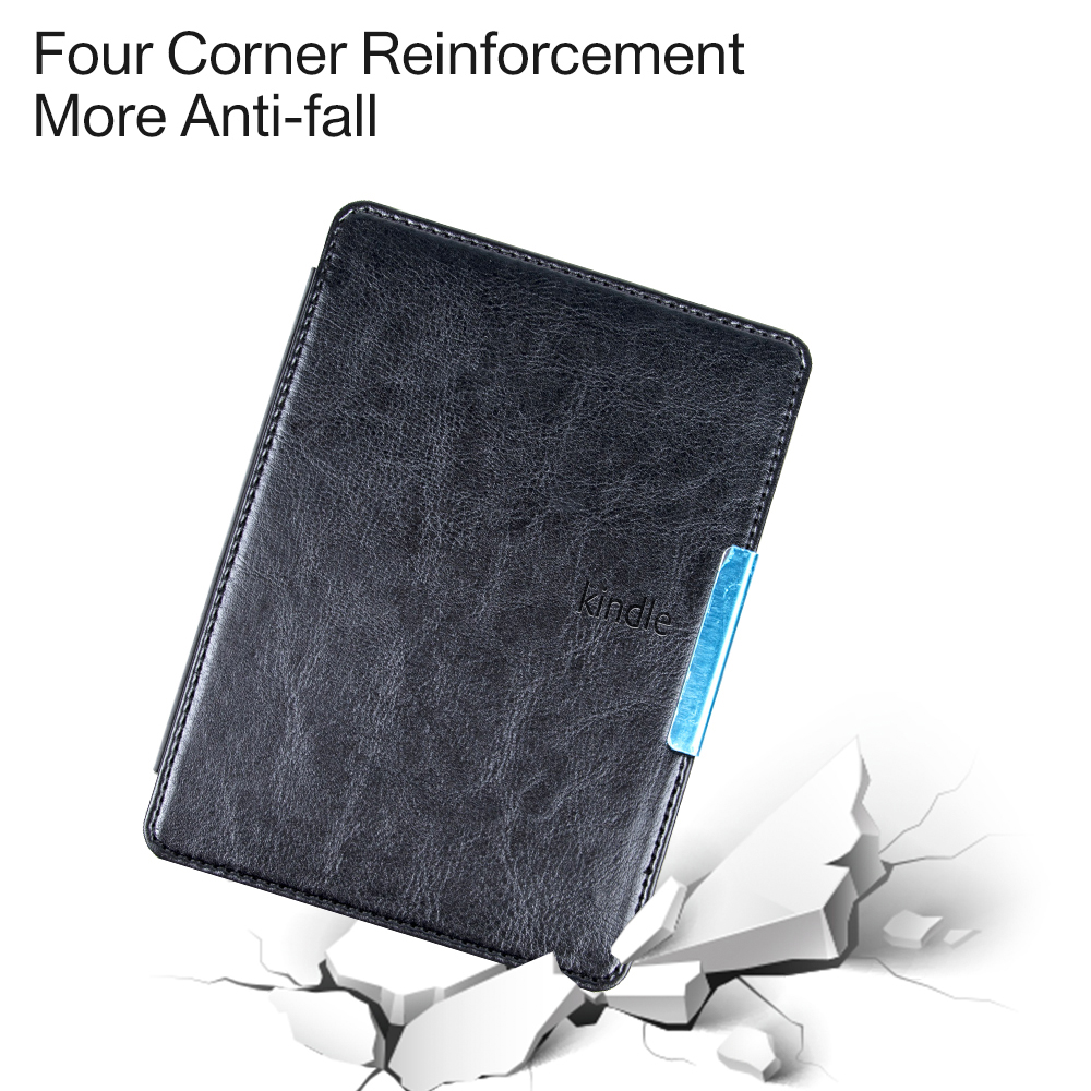 Smart PU leather cover case for Amazon kindle paperwhite 1/2/3 solid folio  protective shell for kindle paperwhite case gift