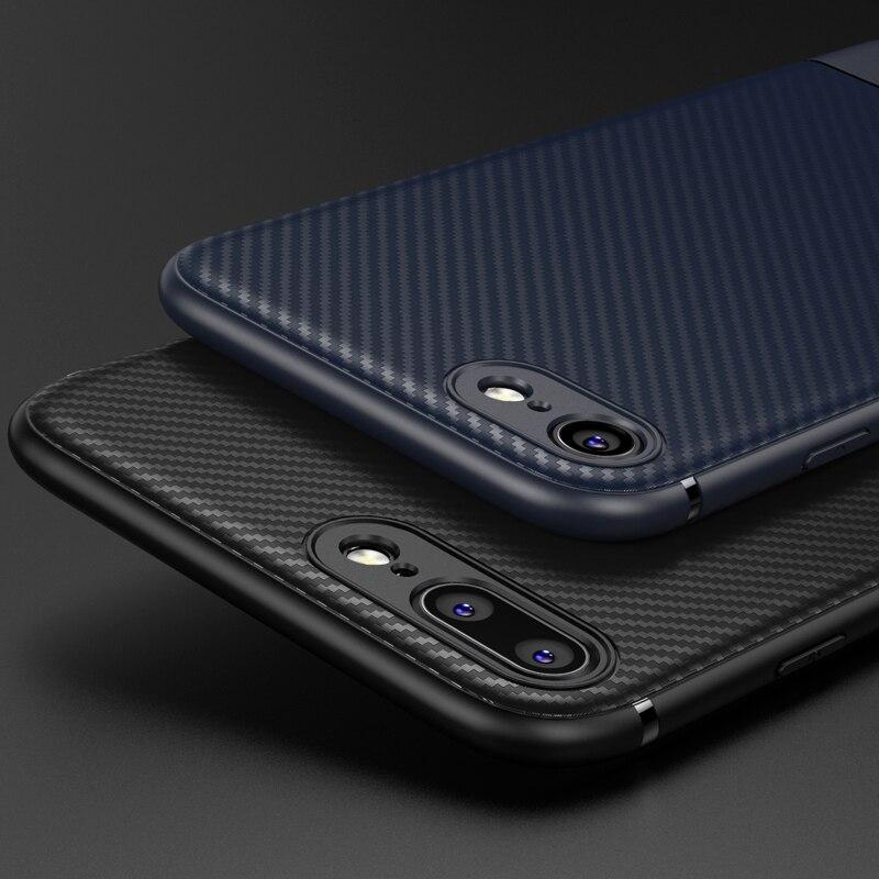 Углерода Волокно чехол для iphone 8 7 Plus iPhone X 10 тонкий мягкий силиконовый чехол Роскошные Coque чехол для iPhone 6 S iphone 6S Plus Чехол