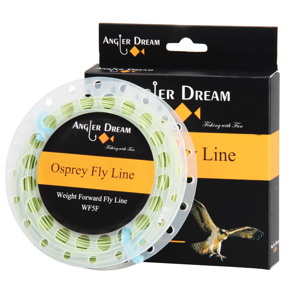WF 1 2 3 4 5 6 7 8 9F Moss Green Yellow White Pink Fly Fishing Line With 2 Welded Loops Weight Forward Floating Fly Line & Spool forward seido 26 1 0 17 2017 yellow