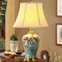 Abajur De Mesa Lamparas Europe Brief Ceramic Bedside Lamp Abajur Sala Lighting Ceramic Lamp Brief Modern