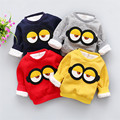 DFXD Toddler Baby Boys Girls Long Sleeve Thick Cartoon Pullover Hoodies Kids Casual Sweatshirt Warm Cotton Girls Tops 1-4 Years
