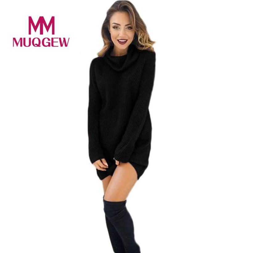 2017 New Design Womens Casual Long Sleeve Jumper Turtleneck Sweaters Coat Blouse christmas sweater winter sweater mujer invierno