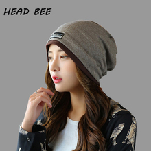 [HEAD BEE] 2018 Fashion Beanies Hat Winter Cap Adult Cotton Ladies Knitted Skullies for Women