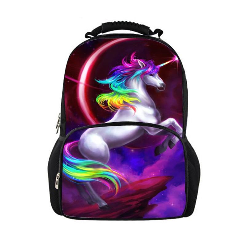 5862f9d9291 FORUDESIGNS 3d σακίδιο εκτύπωσης Unicorn σχολείο για φοιτητή ...