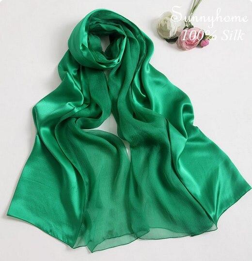 Shawls one piece hijab 100% satin silk scarf famous brand Green patchwork silk pashmina wedding party viscose Ethnic scarves