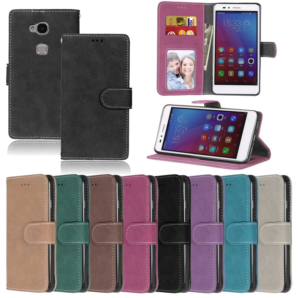Leather Phone Case sFor Coque Huawei Ascend Y550 Shell With Card Slot Retro  Flip Wallet Cover