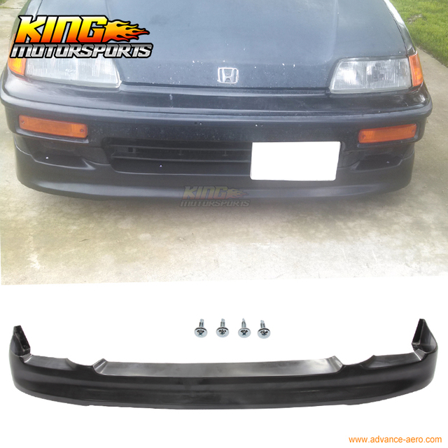 Fit 1990 1991 Honda CRX Si Only CS Style Front Bumper Lip Spoiler Poly  Urthane