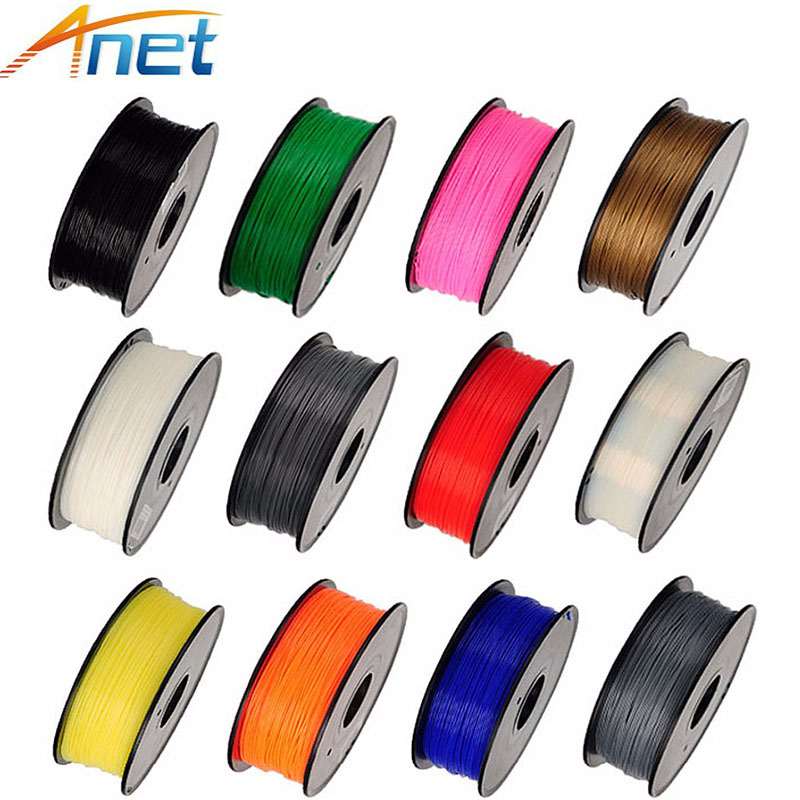 5roll/lot Anet 3D Printer Filaments PLA ABS 1.75mm 1KG Plastic Rubber Ribbon Consumables Material Refills for MakerBot/RepRap/UP 3d printer material pla filaments consumables 3mm 1kg plastic cable