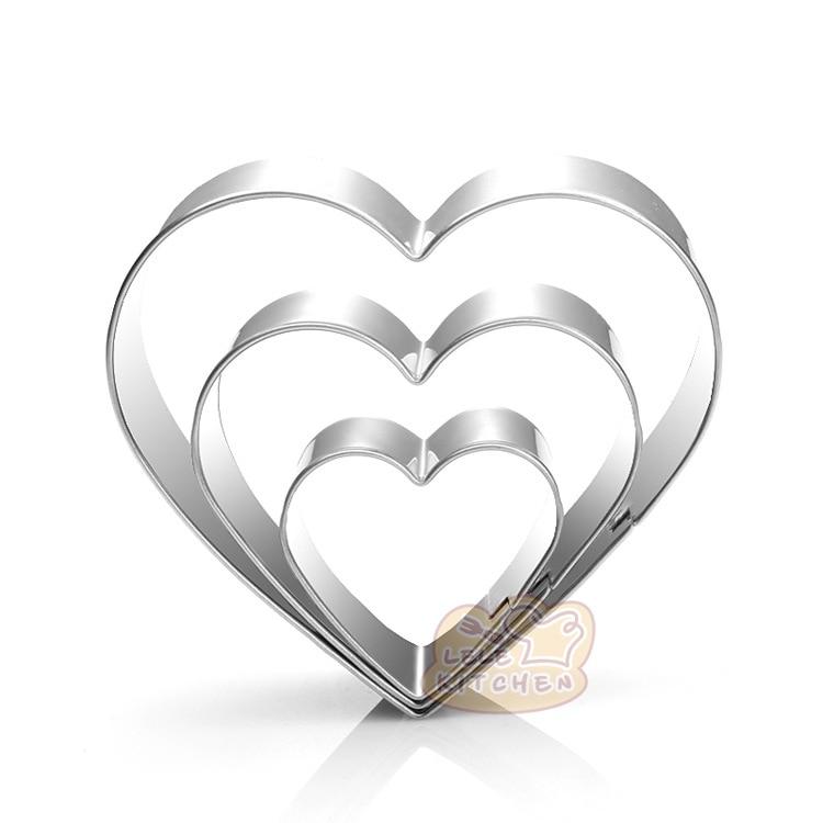 3 размера нержавеющая сталь в форме сердца куки резаки инструменты для украшения тортов из мастики формы для кухни Формы для выпечки H916