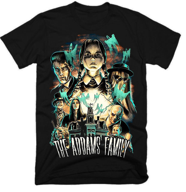 Custom T Shirt Family ALP THE ADDAMS FAMILY,MOVIE ,100% COTTON,MEN'S T-SHIRT.,E0442 custom t shirts t  shirt design funny t shirts customized shirts