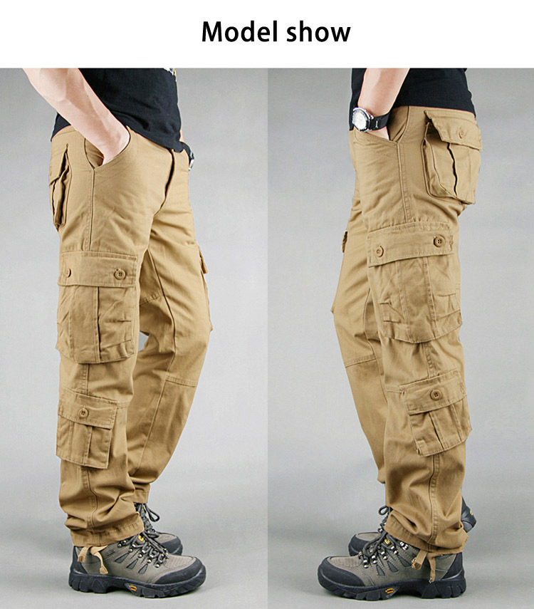 19 Spring Winter Military Pants Men Khaki Cargo trousers Casual Cotton Tactical Pants Men Big Size Army Overol Hombre 4