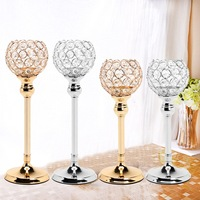Crystal Wedding Party Event Table Tealight Votive Candle Holder Candlestick Gift