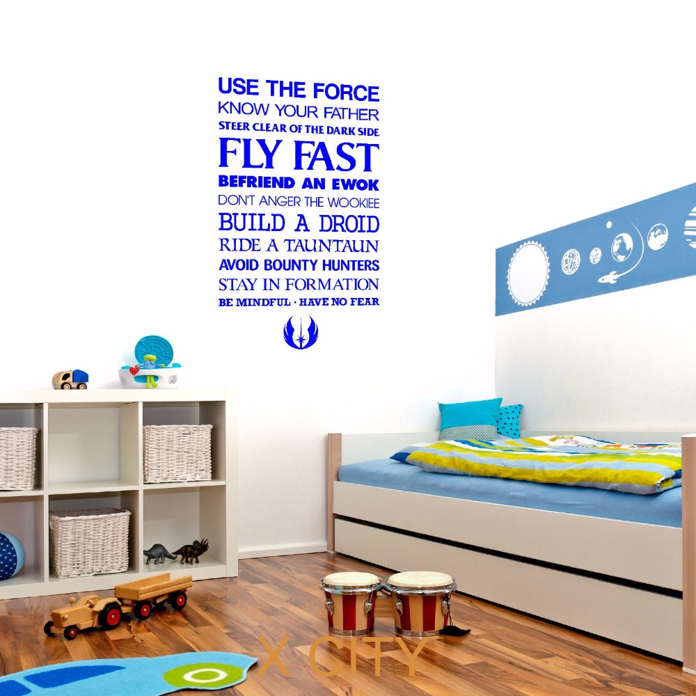 Star Wars Quote Use The Force Wall Art Sticker Decal Removable