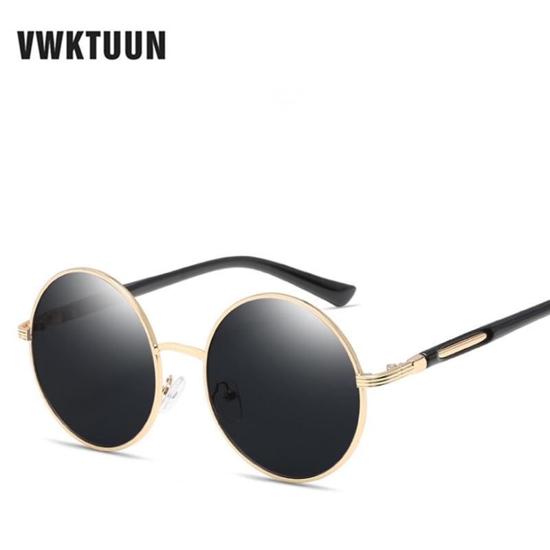 VWKTUUN prevelika retro okrogla sončna očala ženske blagovne - Oblačilni dodatki