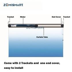 Zemismart 25 مللي متر التلقائي مظلة دوارة المحرك العمل مع Broadlink ل 38 مللي متر أنبوبي مصراع الستار RF433 مع البعيد