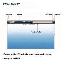 Zemismart 25mm automático rolo sombra trabalho do motor com broadlink para 38mm tubular cortina do obturador rf433 com controle remoto